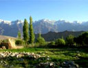 Ladakhi pastureland and mountains