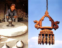 Craftsman and wind chimes