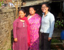 Nepali family with volunteer