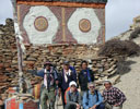 Group in front of stupa in Mustang