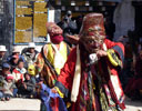 Masked dancing at Tiji Festival