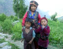 Children in traditional Tamang dress