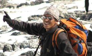 Siling Ghale at Everest Base Camp