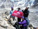 Sponsored group at Everest Base Camp