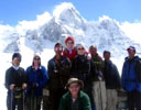 Small group on trek in Nepal
